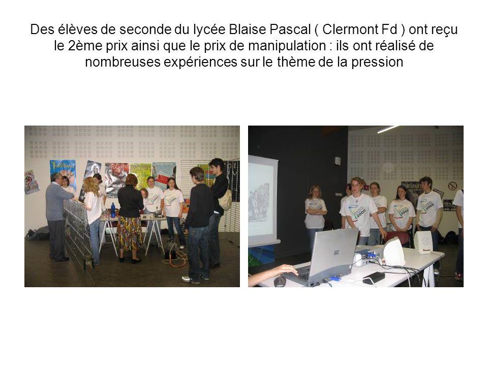 Des élèves du lycée Jeanne dArc ont reçu le 3ème prix