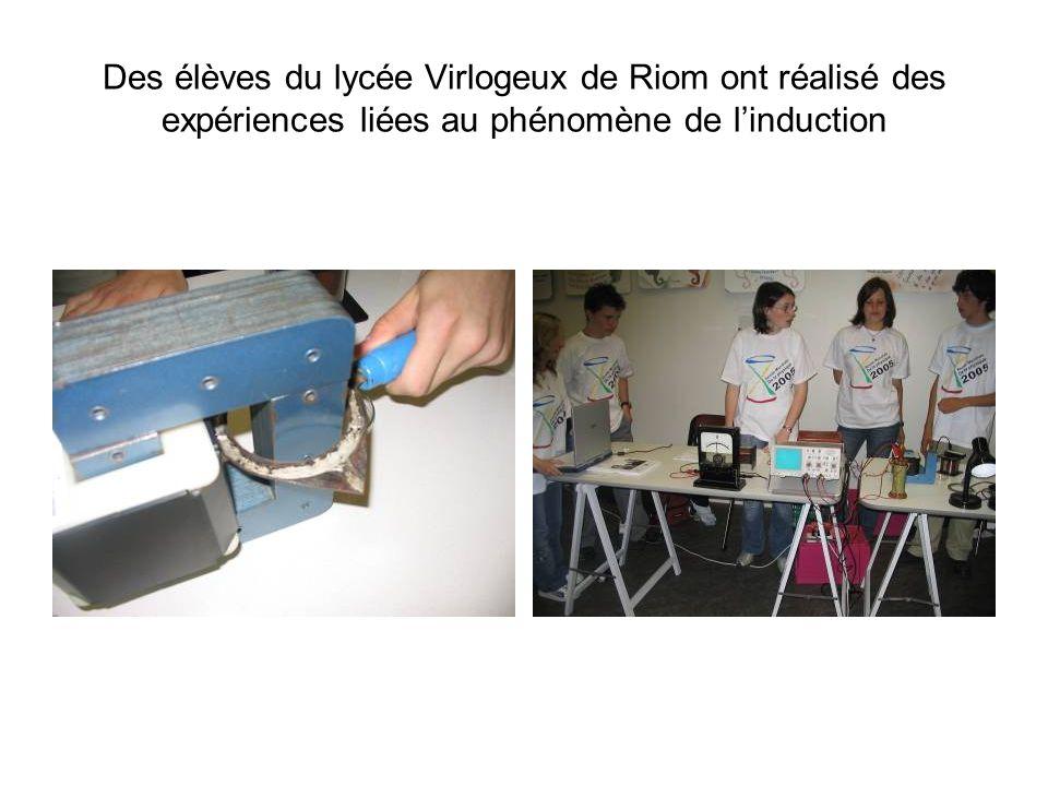 Des élèves du lycée Polyvalent de Chamalières ont fait fonctionné la fontaine hydraulique et réalisé la pile Volta, la pile aux fruits