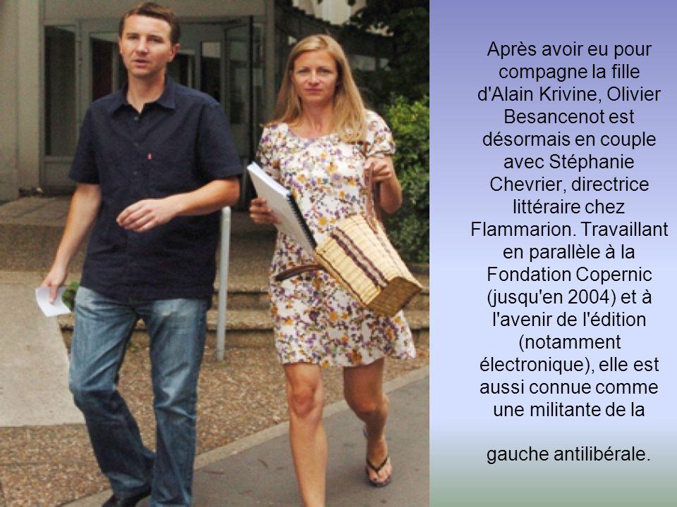 Cécile Duflot lors de l'université d'été des Verts en 2008 avec son compagnon Xavier Cantat. La secrétaire nationale des Verts est en couple avec le f
