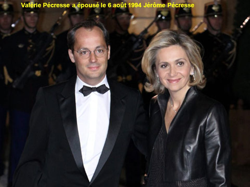 Valérie Pécresse a épousé le 6 août 1994 Jérôme Pécresse