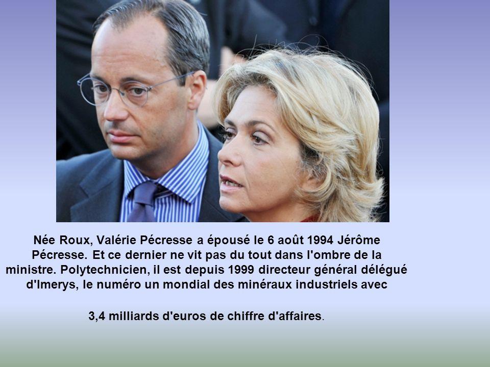 Née Roux, Valérie Pécresse a épousé le 6 août 1994 Jérôme Pécresse.