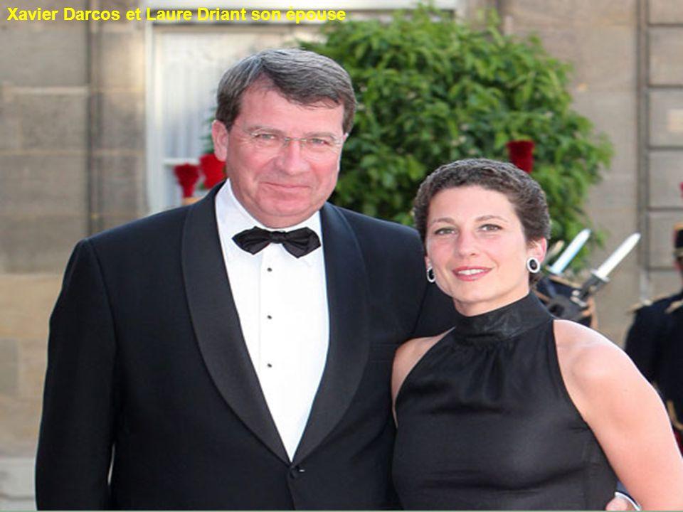 Xavier Darcos et Laure Driant son épouse