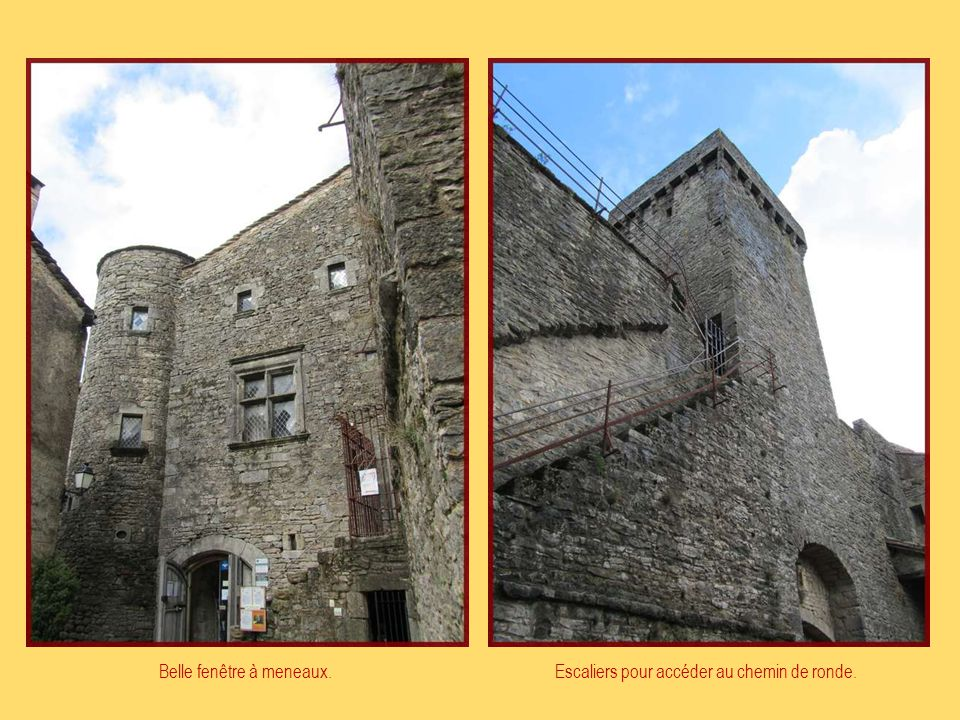 Porte dentrée du village fortifié Tour rondeTour carrée