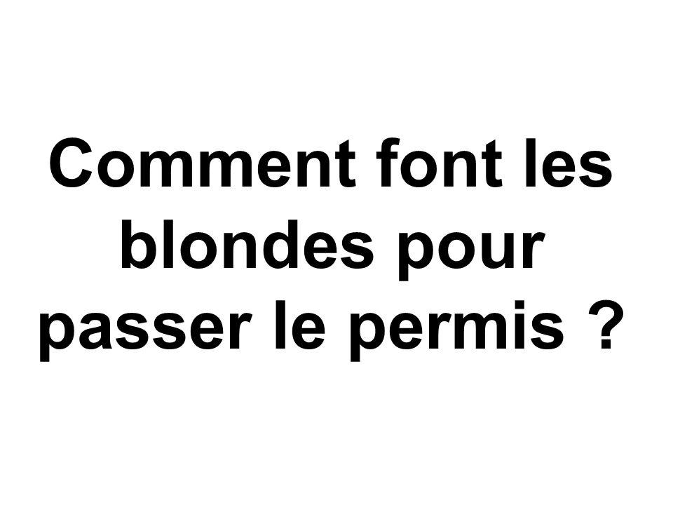 Comment font les blondes pour passer le permis ?
