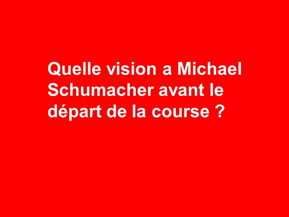 Quelle vision a Michael Schumacher avant le départ de la course ?