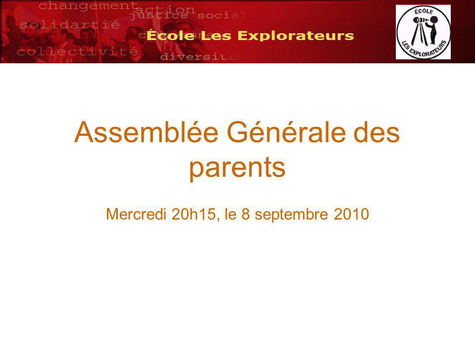 Candidatures au poste de représentant au comité de parent Nom du candidat:Proposé par: