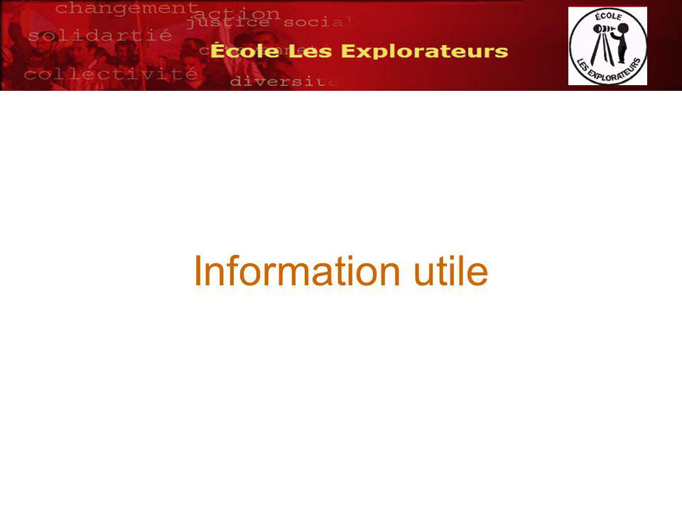 Information utile