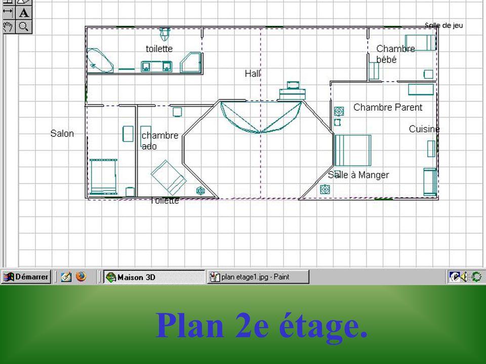 Plan du premier étage.