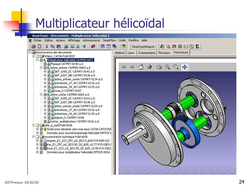 24 AIP Primeca –23/10/03 Multiplicateur hélicoïdal