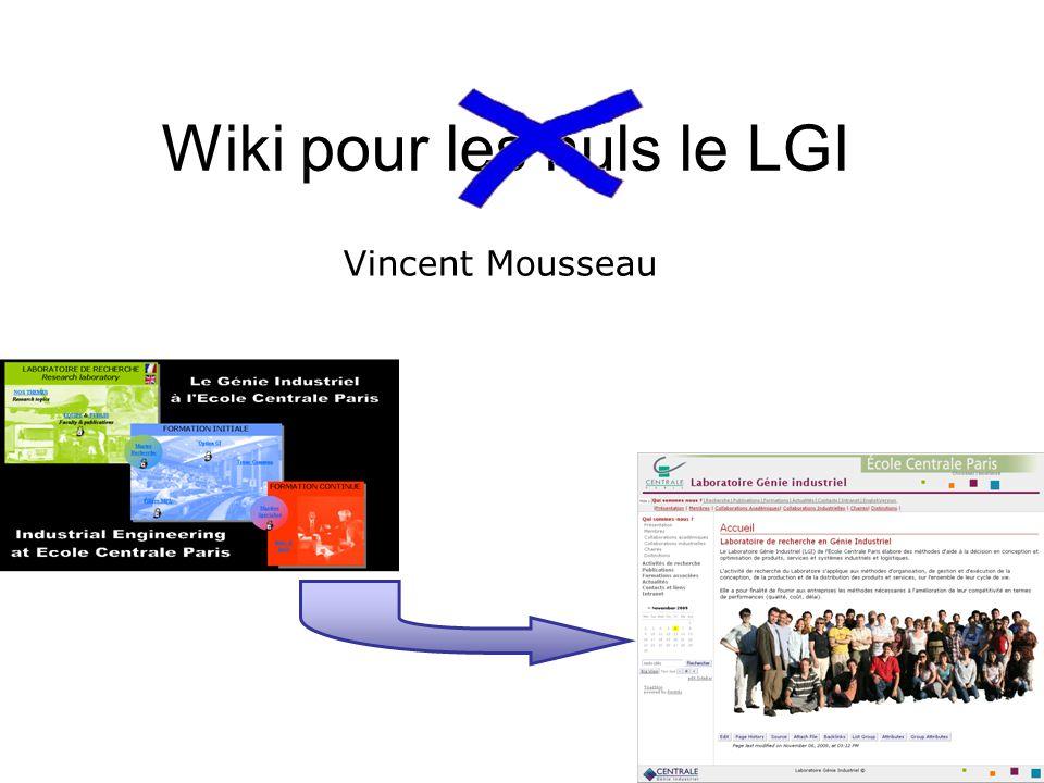 Wiki pour les nuls le LGI Vincent Mousseau