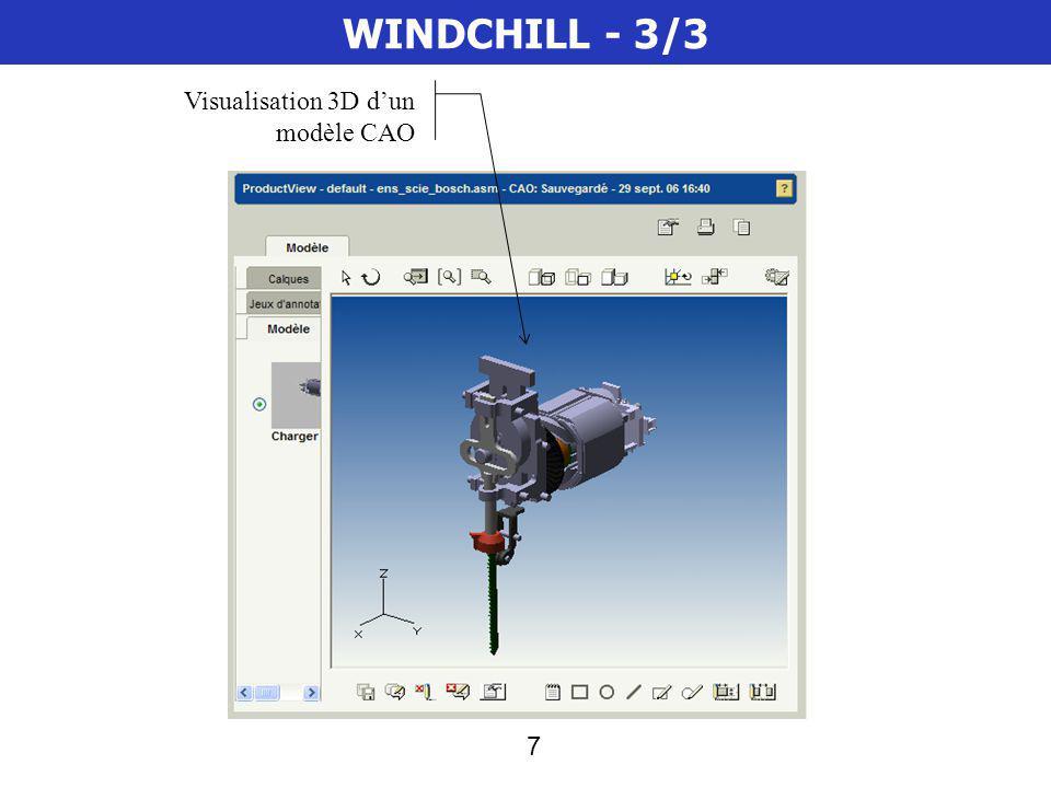 7 WINDCHILL - 3/3 Visualisation 3D dun modèle CAO