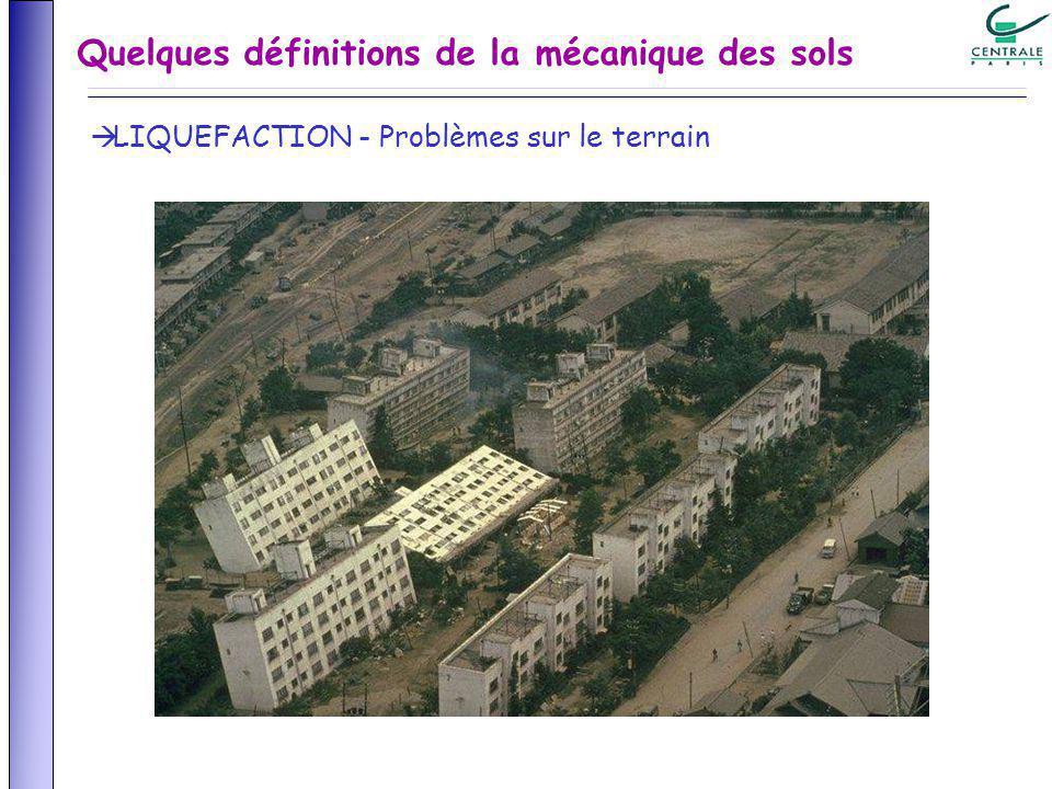Quelques définitions de la mécanique des sols