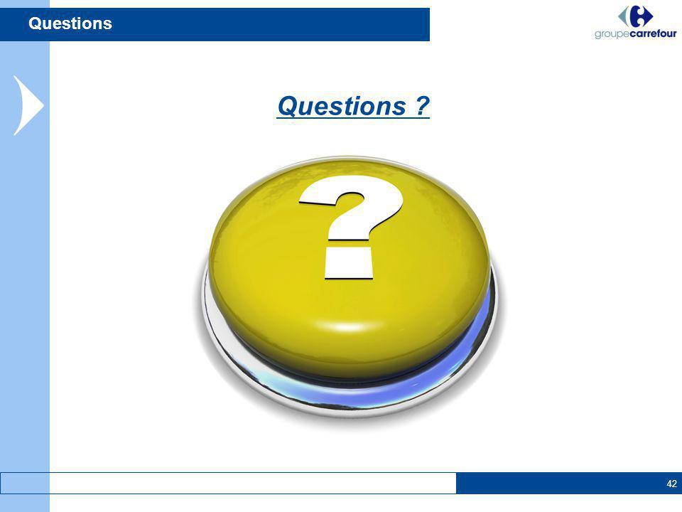42 Questions ? Questions