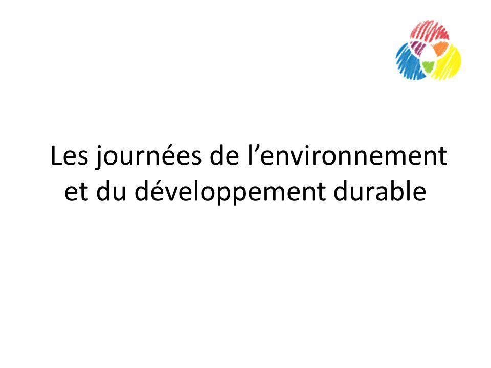 Les journées de lenvironnement et du développement durable