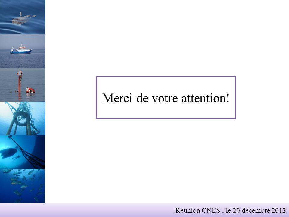 Merci de votre attention! Réunion CNES, le 20 décembre 2012