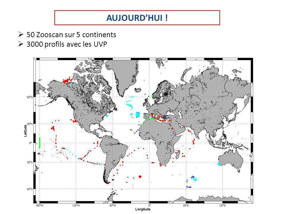 AUJOURDHUI ! 50 Zooscan sur 5 continents 3000 profils avec les UVP