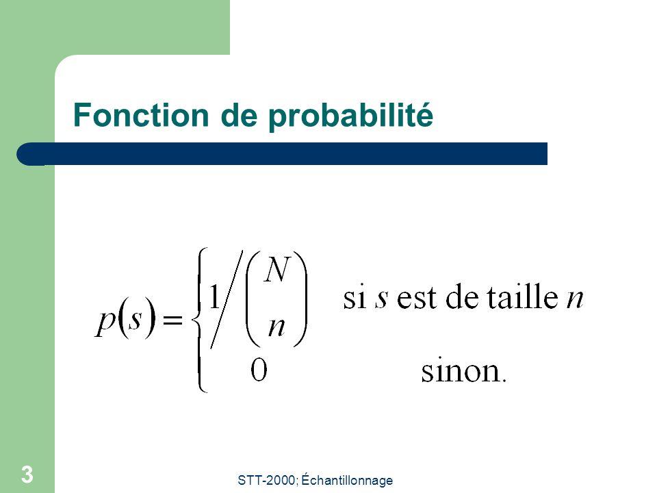 STT-2000; Échantillonnage 3 Fonction de probabilité