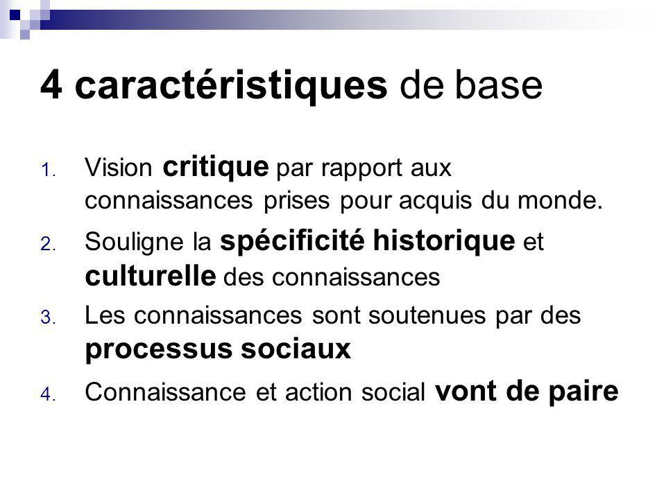 4 caractéristiques de base 1.