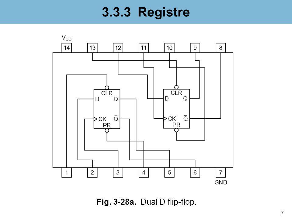 8 3.3.3 Registre Fig. 3-28b. Octal flip-flop.