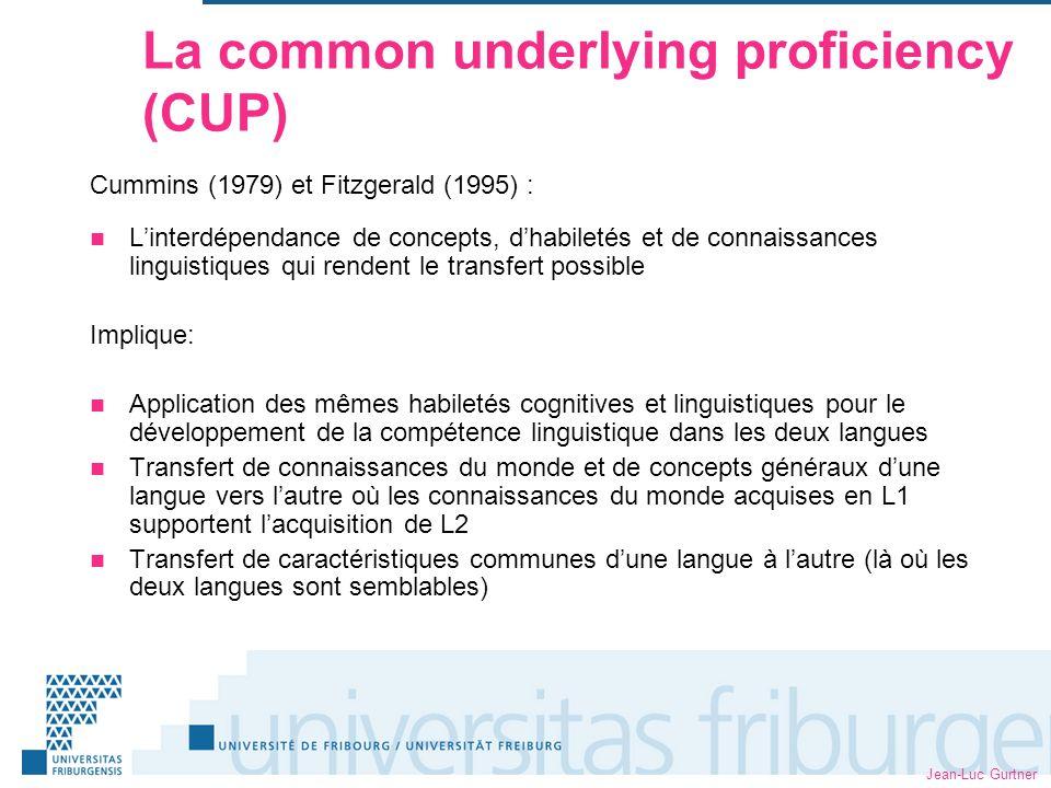 Jean-Luc Gurtner Développements récents sur le plan des cours de LCO .