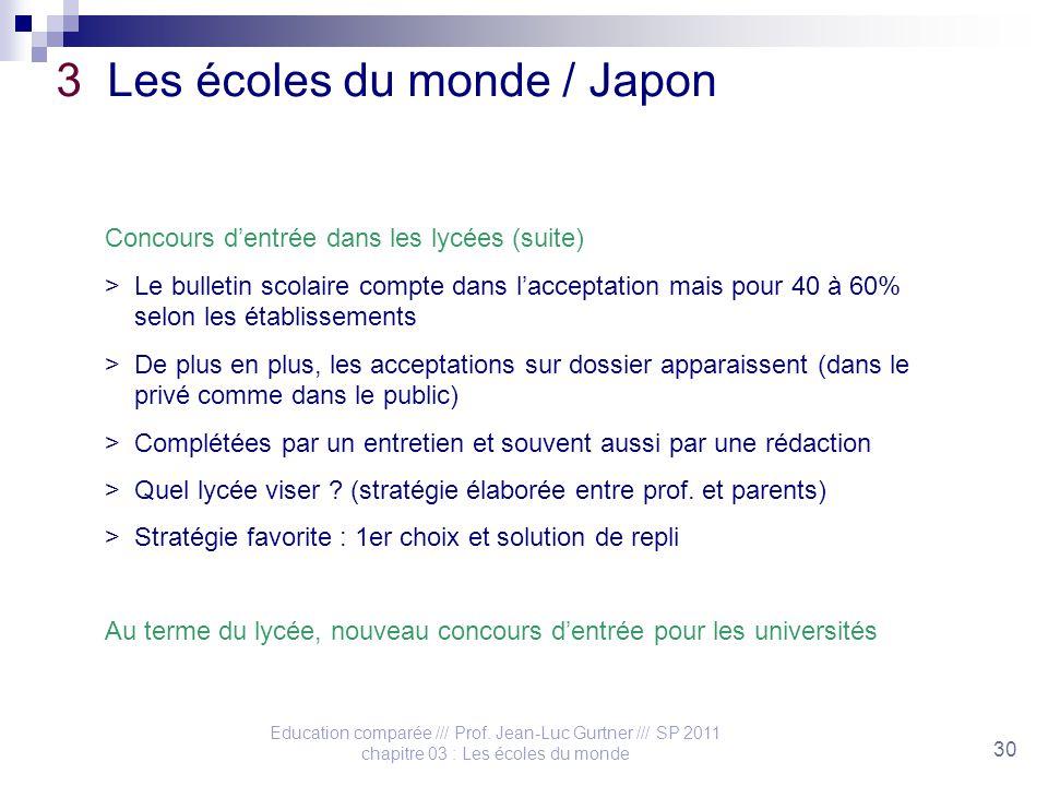 Education comparée /// Prof.