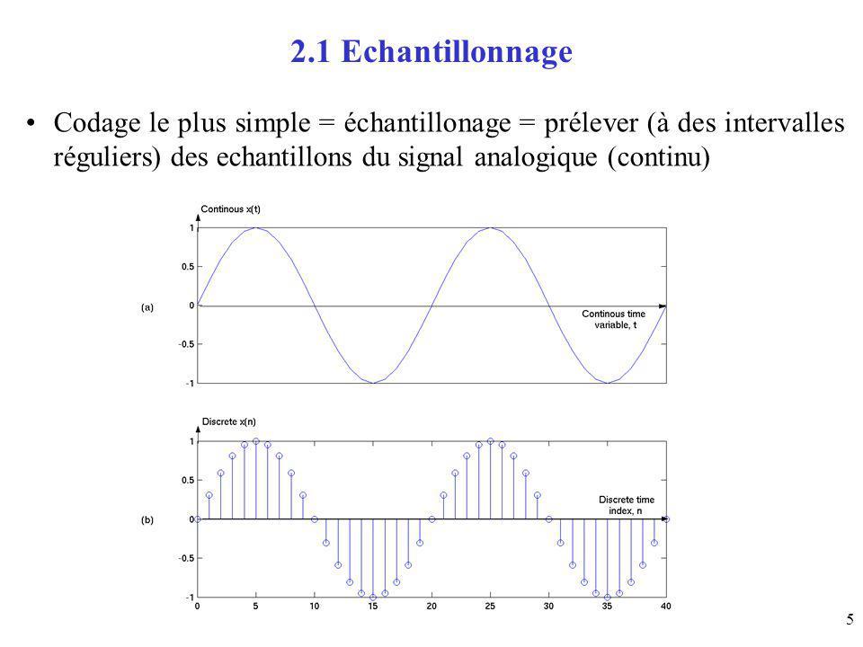 16 3.6 Ex de quantification scalaire uniforme quantification uniforme: les niveau de deamplitude signal [0-1], 4 niveaux de reconstruction espacées régulièrement, x1=1/4 x2=1/2 x3=3/4 x[n] y[n] x0=0 10 00 01 11 1/8 3/8 5/8 7/8 x4=1