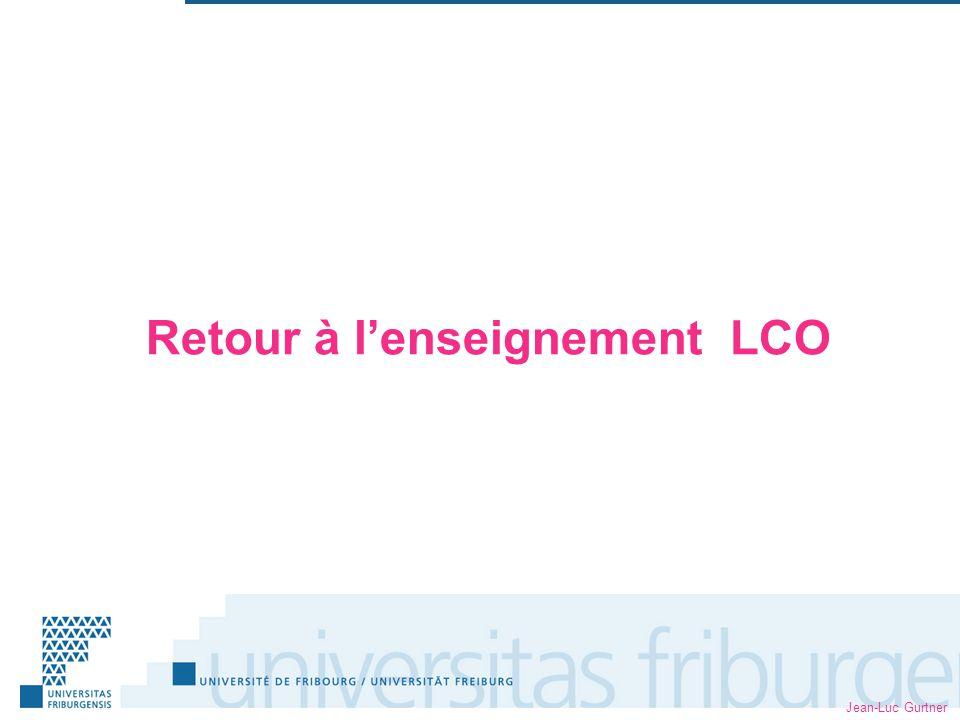 Retour à lenseignement LCO