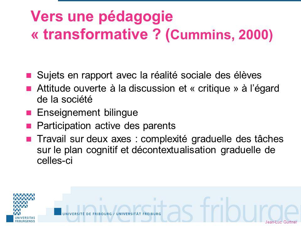 Jean-Luc Gurtner Vers une pédagogie « transformative .