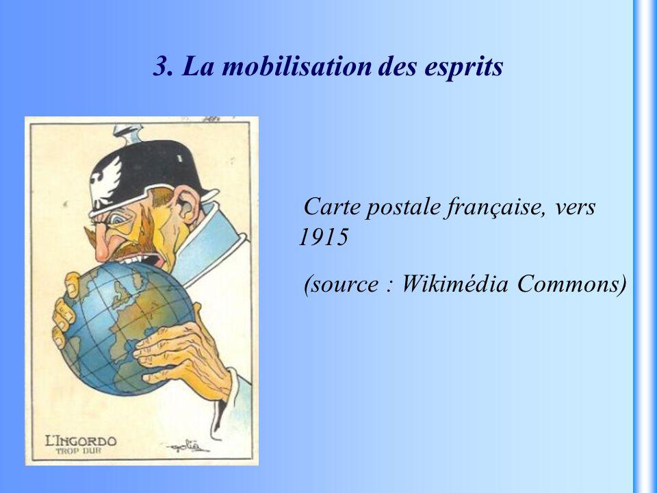 Carte postale française, vers 1915 (source : Wikimédia Commons)