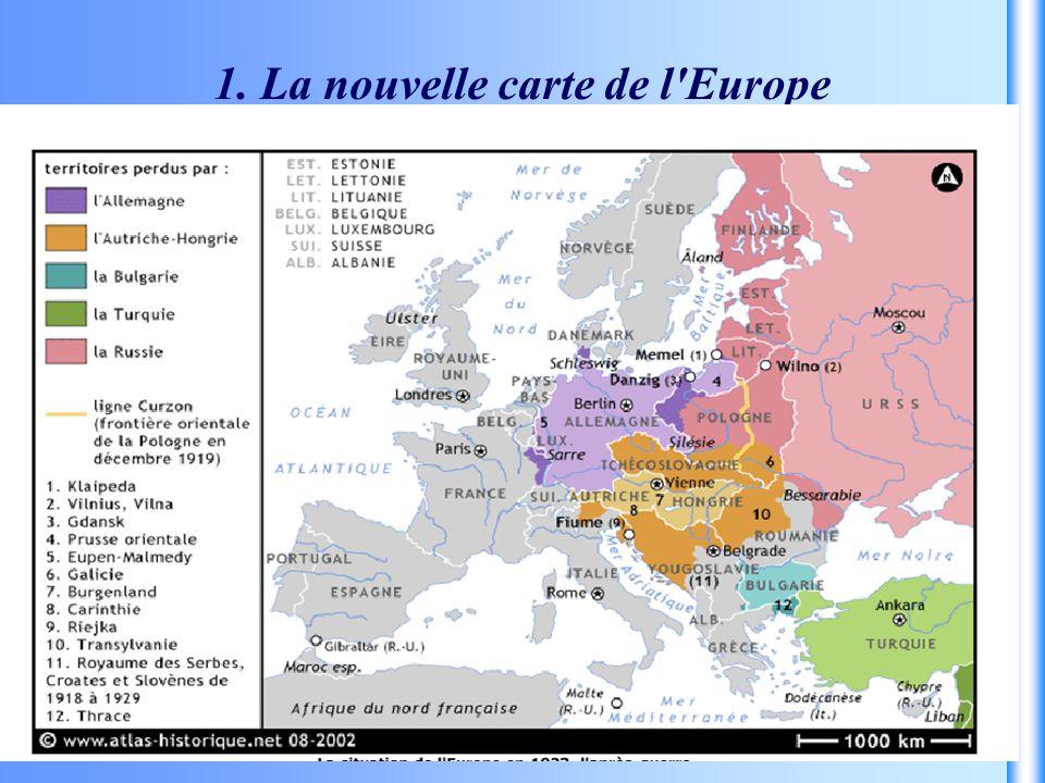 1. La nouvelle carte de l'Europe
