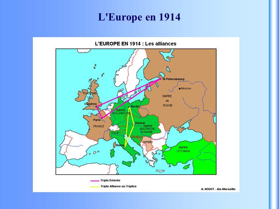L'Europe en 1914