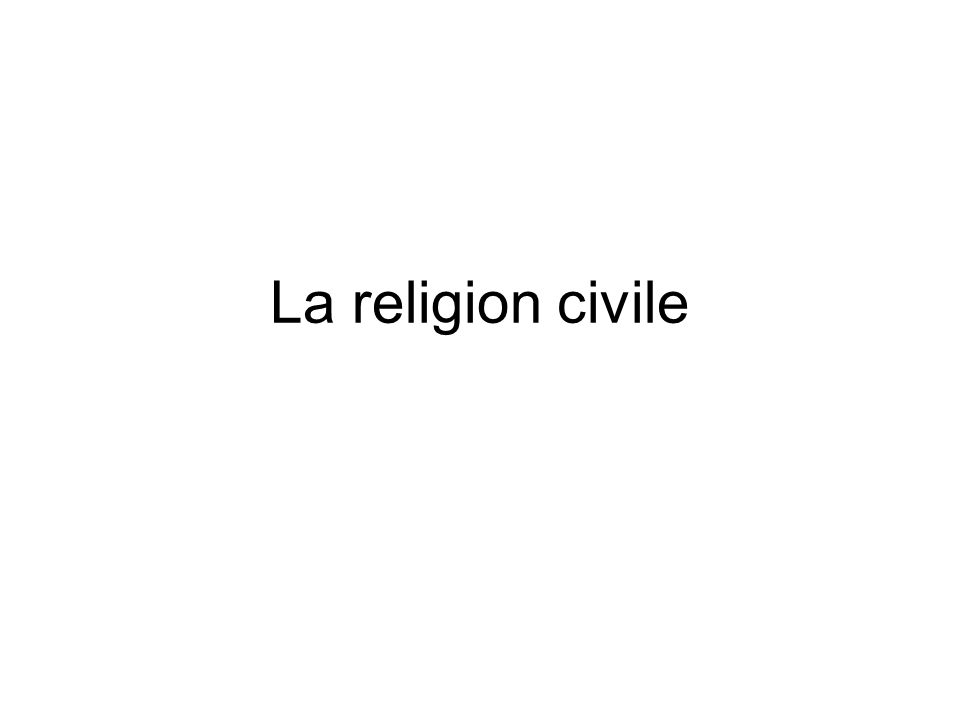 La religion civile