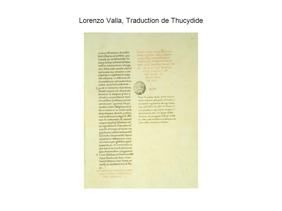 Lorenzo Valla, Traduction de Thucydide