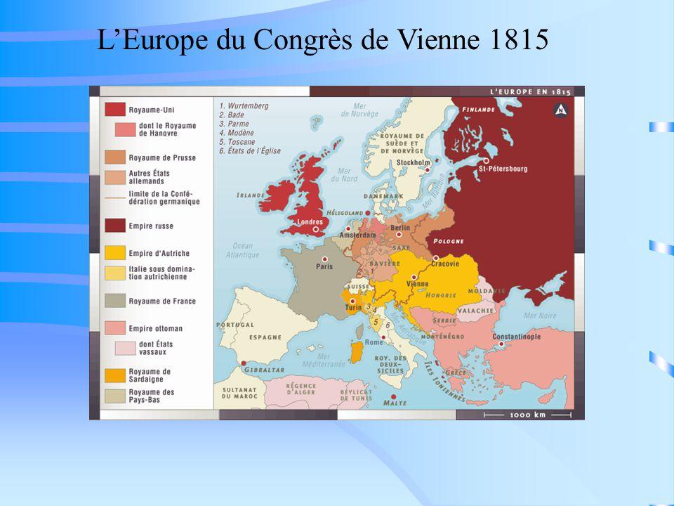 LEurope du Congrès de Vienne 1815