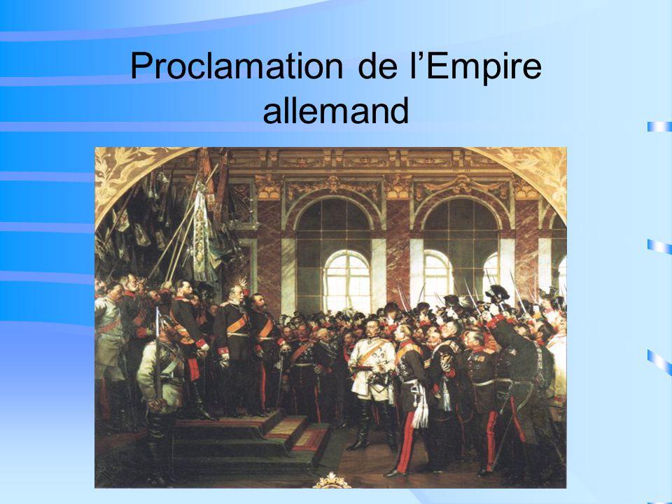 Proclamation de lEmpire allemand