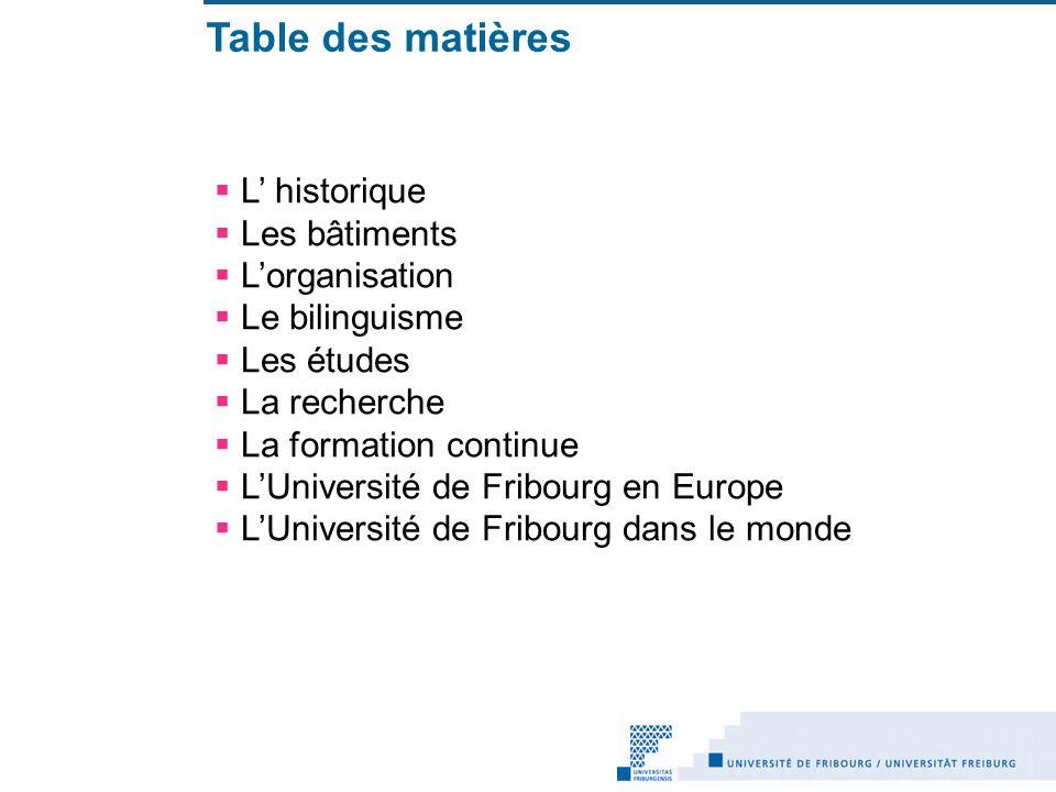 LUniversité au coeur de la Suisse Fribourg