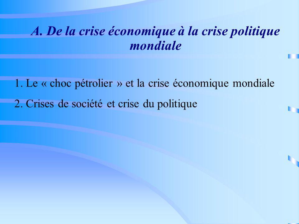 B.Le monde éclaté 1. Concurrences Ouest-Ouest et dérégulations économiques 2.