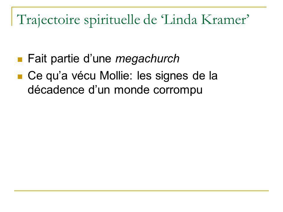 Trajectoire spirituelle de Linda Kramer Fait partie dune megachurch Ce qua vécu Mollie: les signes de la décadence dun monde corrompu