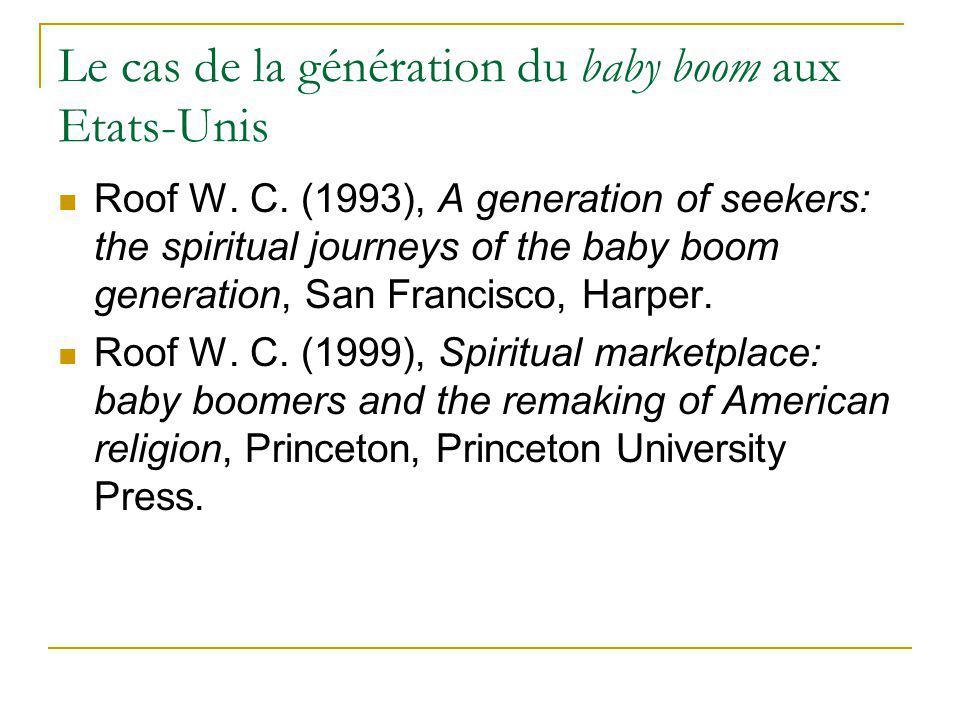 Les boomers et leur temps 1946 – (1958) – 1964 « An era of expanding horizons » (A generation of seekers: 4).
