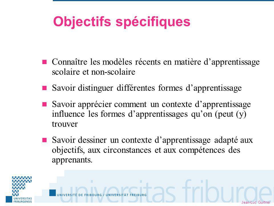 Jean-Luc Gurtner Démarche Présentations Lectures dapprofondissement (anglais)
