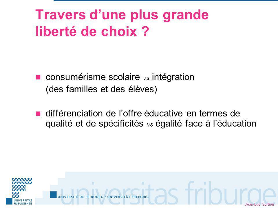 Jean-Luc Gurtner Travers dune plus grande liberté de choix .