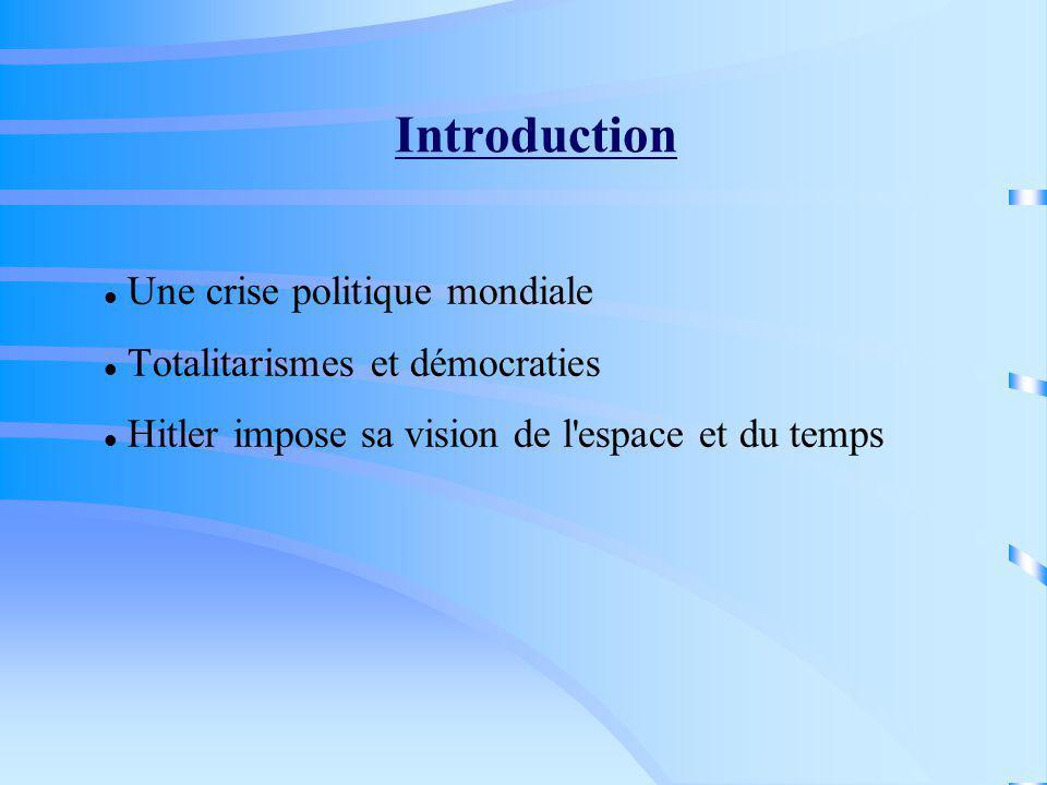 Plan du chapitre : I.Hitler et la fin du système européen de Versailles II.