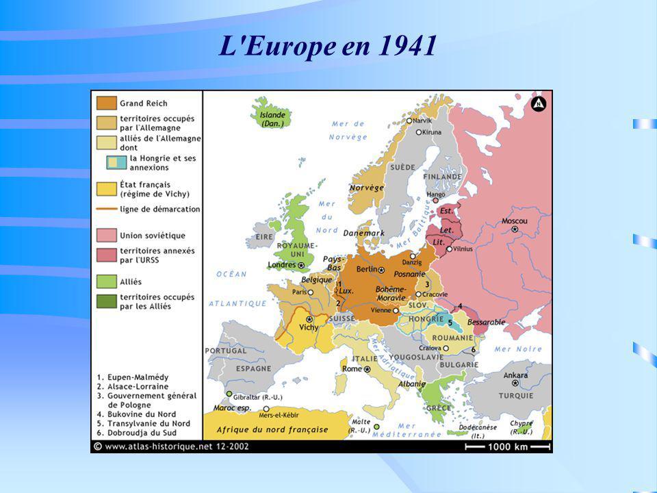 L'Europe en 1941