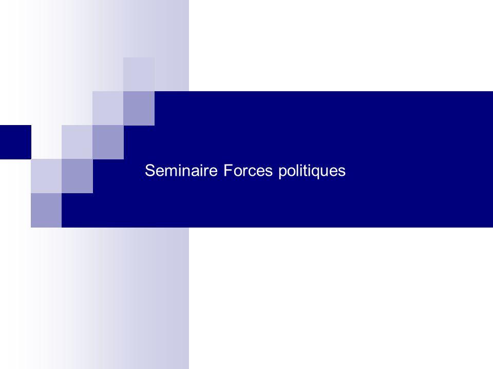 Seminaire Forces politiques
