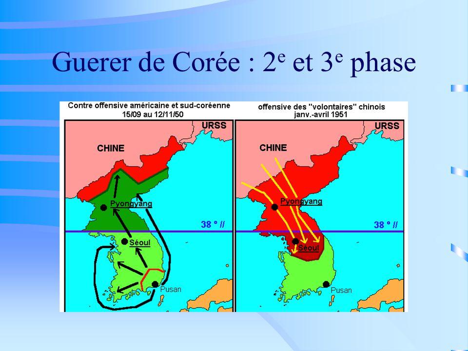 Guerer de Corée : 2 e et 3 e phase