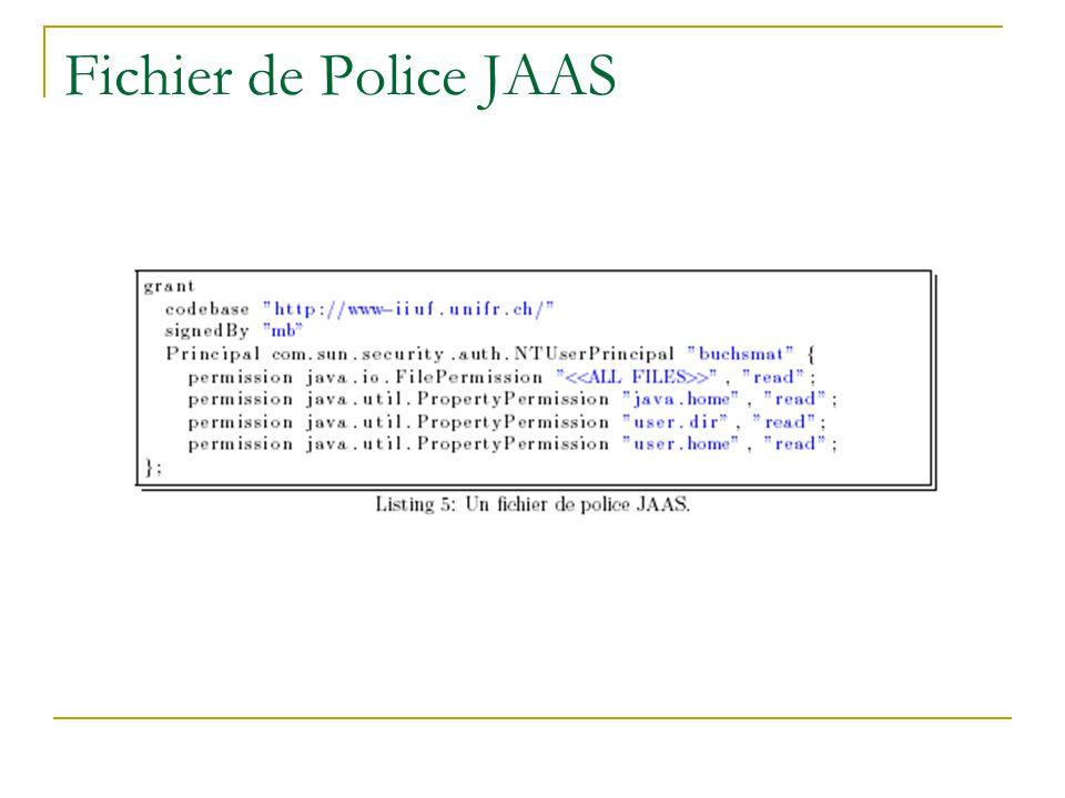 Fichier de Police JAAS