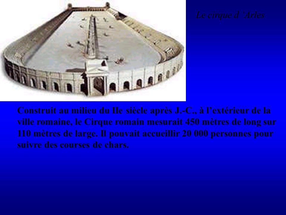 Construit au milieu du IIe siècle après J.-C., à lextérieur de la ville romaine, le Cirque romain mesurait 450 mètres de long sur 110 mètres de large.