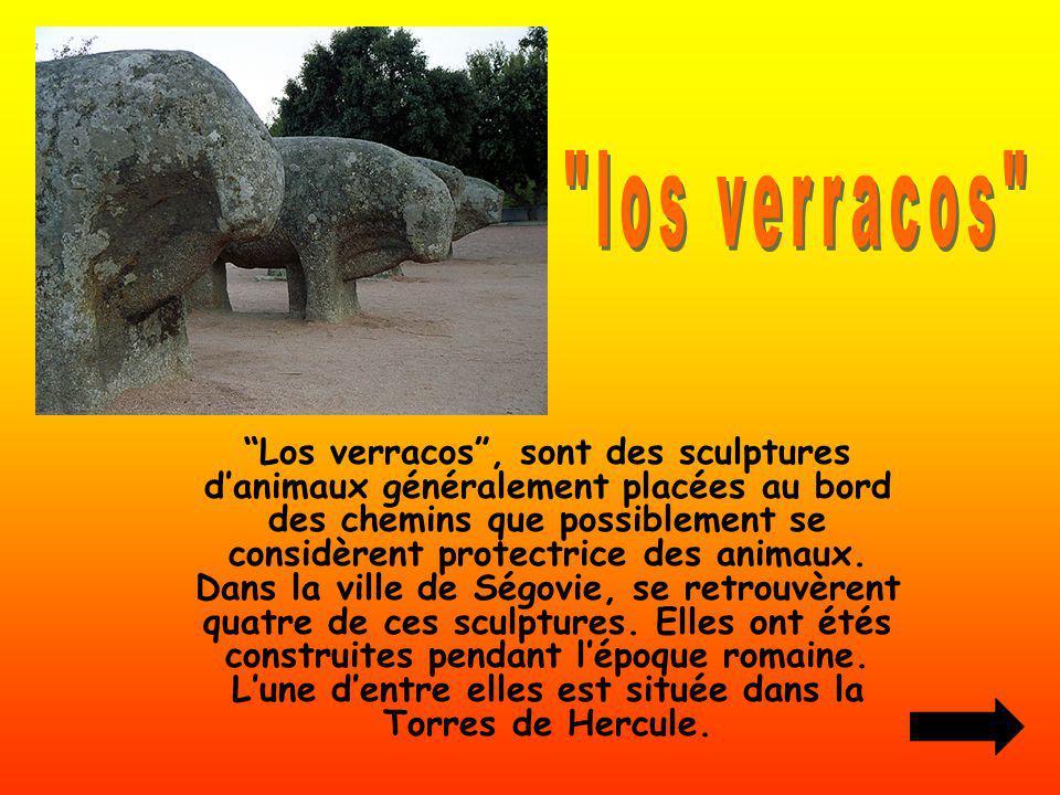 Los verracos, sont des sculptures danimaux généralement placées au bord des chemins que possiblement se considèrent protectrice des animaux. Dans la v