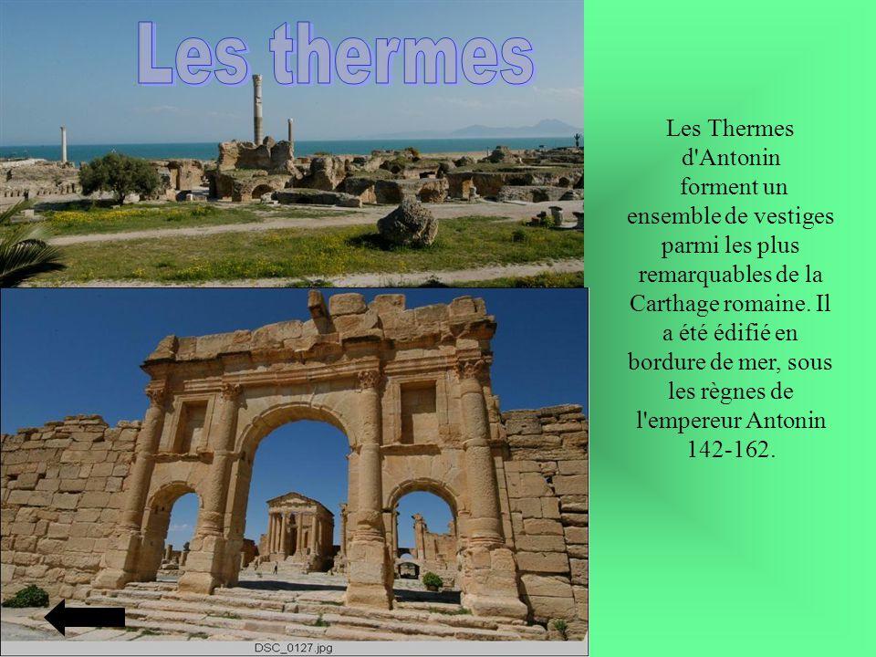 Les Thermes d'Antonin forment un ensemble de vestiges parmi les plus remarquables de la Carthage romaine. Il a été édifié en bordure de mer, sous les