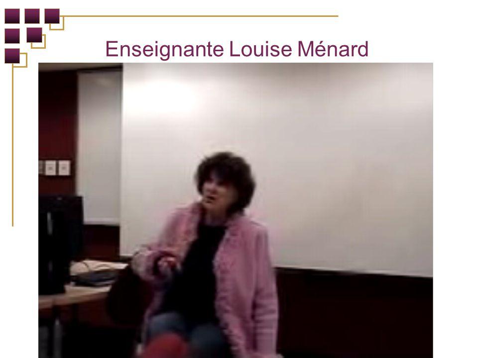 Enseignante Louise Ménard